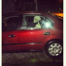 Halloween Car Decal Skeleton Backseat Driver Deffinatly Will Get Some Heads Turning Car Decals Halloween Car