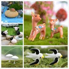 2pcs deer bird sheep tortoise miniature