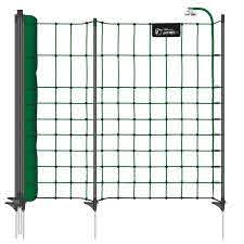 Voss Pet Petnet 10 M Dog Fence Puppy Fence Rabbit Fence 65 Cm 10 Premium Posts 1 Spike Green