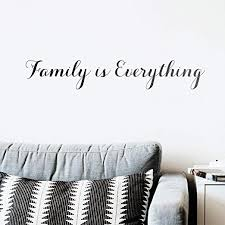 Amazon Com Vinyl Wall Art Decal Family Is Everything 5 X 31 Trendy Inspirational Family Love Humor Couples Quote Sticker For Bedroom Closet Living Room Dining Room Decor Black Kitchen
