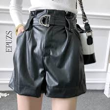 vintage punk high waisted shorts women