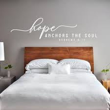 Hope Anchors The Soul Wall Decal Christian Quote Wall Decal Etsy