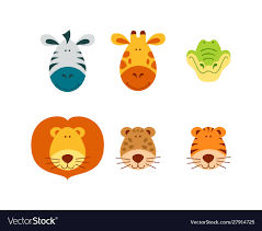 funny s faces set vector image