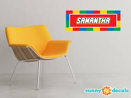 Personalized Building Block Fabric Wall Decal Sunny Decals