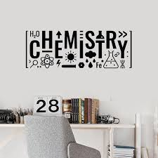 Lettering Chemistry Vinyl Wall Decal For Clasroom Science Teen Room Decor Wall Stickers Nordic Home Decoration Art Murals W408 Wall Stickers Aliexpress