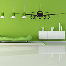 Aircraft Take Off Airport Wall Sticker Study Decal Adults Home Furnishing Decorativepvc Wallpaper Children Room 4028 Children Room Wall Stickerhome Furnishings Aliexpress
