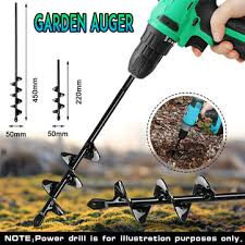 small earth planter drill bit post hole