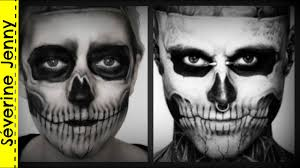 maquillage squelette zombie