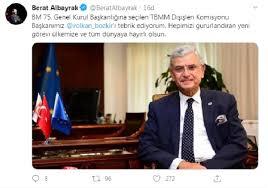 Bakan Albayrak'tan BM Genel Kurul Başkanlığı'na seçilen Bozkır'a ...