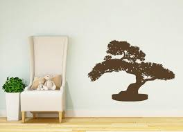 Bonsai Wall Decal Tree Decals China Vinyl Stickers Home Decor Etsy