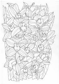 Kleuren Voor Volwassenen Bloemen Alfabet Kleurplaat C Van