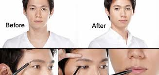 south korean men like wearing makeup