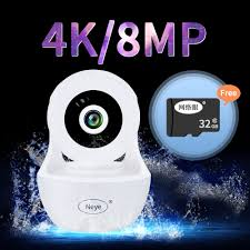 N_eye Camera Wifi 8MP 4K Cho Bé Màn Hình Không Dây Dome IP Hai Chiều Có  Hồng Ngoại Ai Tự Động Theo Dõi an Ninh Pan Tilt Camera|Camera giám sát