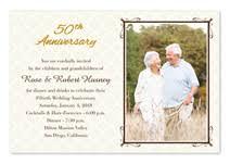 50th anniversary invitations golden