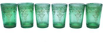 moroccan tea glasses mint green