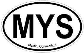 Amazon Com Slap Art Mystic Ct Oval Vinyl Decal Sticker Automotive
