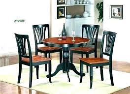round glass dining table set for 4