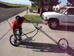 ride on a homemade chopper bike