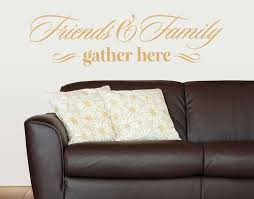Friends And Family Wall Decal Quote Contemporary Wall Decals By Style And Apply