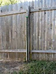 Broken Fence Post With Steel T Post Helper Post Providing Stability Fence Post Fence Post Repair Metal Fence Posts