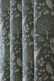Woodland Charcoal Made To Measure Curtains Nursery Curtains Girl Nursery Curtains Nursery Curtains Boy