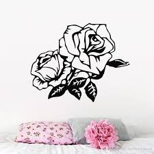 Beautiful Rose Wall Stickers Bedroom Decoration Removable Vinyl Wall Decals Flowers Plant Home Decor Wall Stickers Baby Wall Stickers Bedroom From Moderndecal 6 79 Dhgate Com