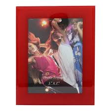 picture frames 5x7 red glass picture frame
