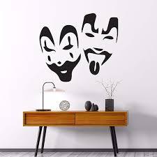 Amazon Com Manukadesigns Insane Clown Posse Wall Decal Violent J And Shaggy 2 Dope Masks Vinyl Art American Hip Hop Duo Bedroom Living Any Room Home Decoration Cg530 22 Width X