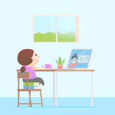 Kids taking online lessons concept | Free Vector