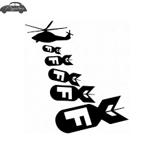 F Helicopter Bomb Vinyl Decal Funny Car Truck Sticker Mechanic Posters Vinyl Wall Decals Decor Mural Sticker Car Stickers Aliexpress