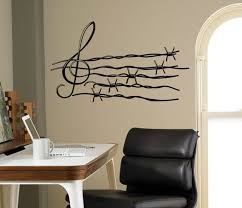 Musical Notes Wall Decal Barbed Wire Vinyl Sticker Music Art Etsy