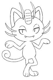 Kleurplaat Pokemon Alola Formen Alola Meowth 11