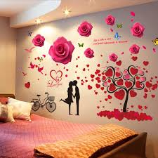 3d Stereo Bedroom Wall Stickers Background Wall Layout Bedside Wall Decoration Wall Stickers Stickers Wall Wallpaper Self Adhesive