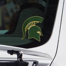 Michigan State Sticker Pro Combat Helmet Vinyl Decal Nudge Printing