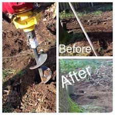 Homeowner Uses Auger For Fence Post Holes Shop Compare Reserve Equipment Rentals