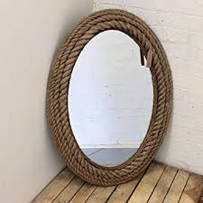 sil large oval rope mirror co