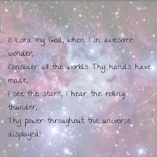our god is an awesome god nebula stars sky universe god