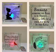 On Sale Lighted Glass Block Decal Memorial Glass Block Sticker Your Wings Were Ready Decals Becaus Block Stickers Glass Blocks Lighted Glass Blocks