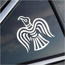 Amazon Com Odin Norse God Raven White Vinyl Decal Automotive