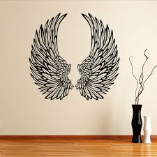 Angel Wall Decals Details About Angel Wings With Feathers Wall Stickers Wall Decals Angel Wall Art Angel Wings Wall Art Angel Wings Wall
