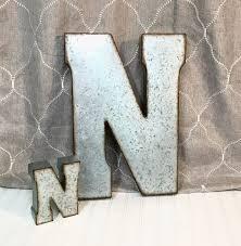 metal letters letter n large letter n