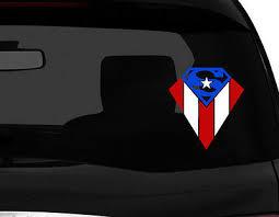 Puerto Rico Vinyl Car Decal Sticker 6 H Superman Design Puerto Rican Flag No1 4 95 Picclick