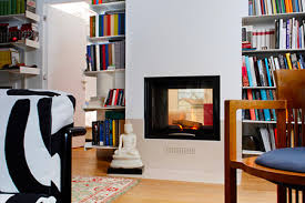 two sided wood burning fireplace mcz