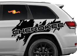 Product Side Jeep Cherokee Trail Hawk Trailhawk Splash Splatter Graphic Vinyl Decal Suv