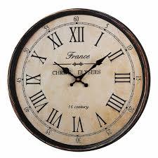 nordic metal roman numeral wall clocks