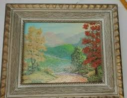 Vintage duane james warsaw indiana Folk Art impressionist Landscape  midcentury | eBay