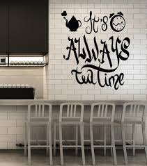 Vinyl Wall Decal Dining Room Kitchen Decor Tea Time Stickers Mural G2 Wallstickers4you