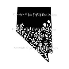 Floral Nevada Sticker Nevada Decal Nevada Sticker Floral Etsy