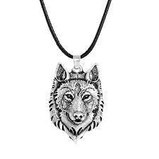 2020 tibetan silver wolf head pendant