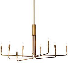 clive 8 arm brass chandelier lighting